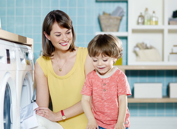 You can stop curious little fingers from meddling with your washing cycle thanks to our child safety lock.